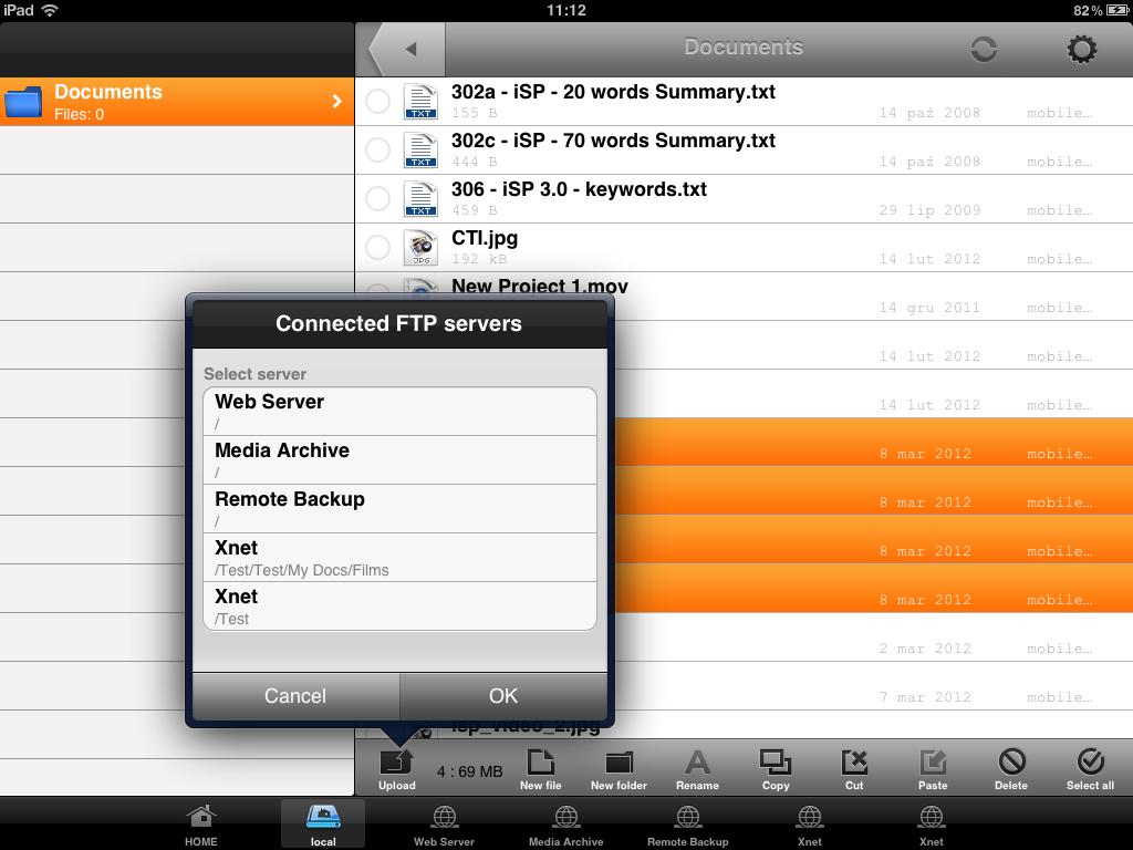 Captain FTP per iPad, il client per il trasferimento file in